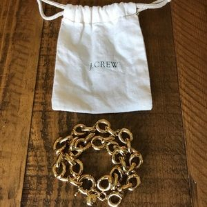 J. Crew Gold Swirl Linked Bracelet